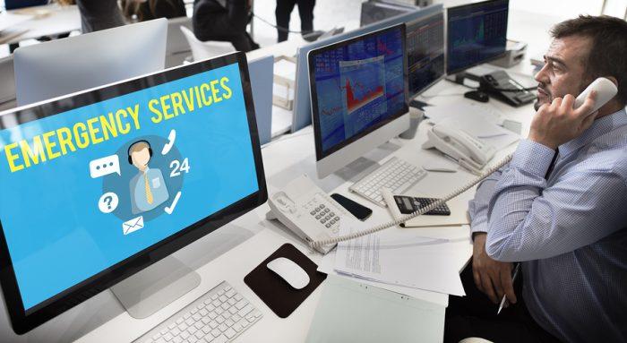 Emergency Services Urgency Helpline Care Service Concept