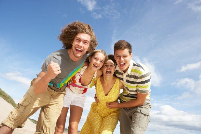 Group Of Friends Having Fun On Summer Beach