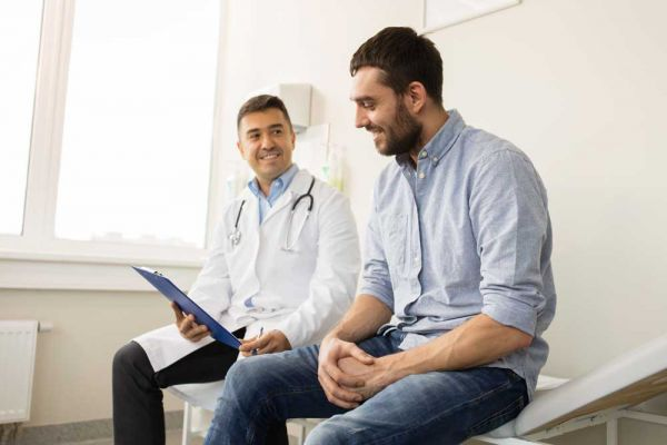 goodencenter-ten-Ways-to-Track-Your-Mental-Health-photo-of--young-man-patient-meeting-at-hospital