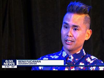 Photo of interview of Benji Fucanan on fox 9